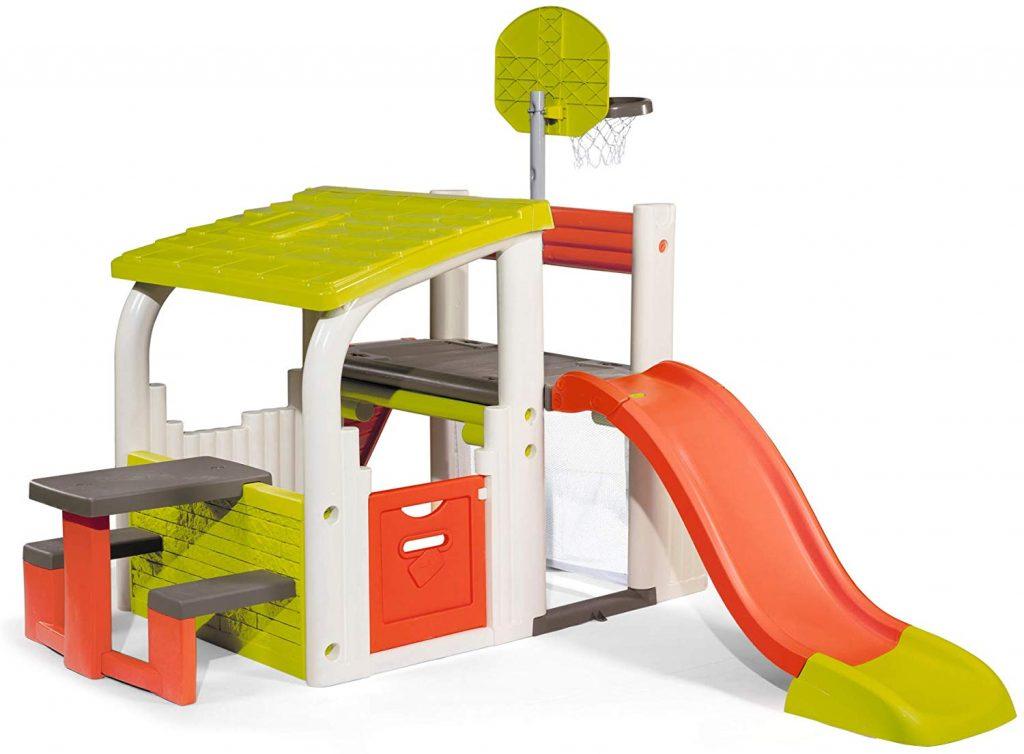 La maison Smoby Fun Center est une maison de jardin multi-activités.