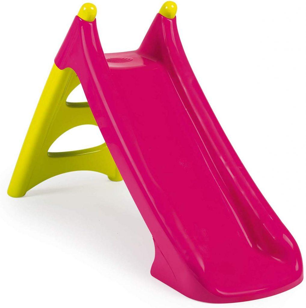 Le toboggan bébé Smoby XS rose existe notamment en d'autres coloris.