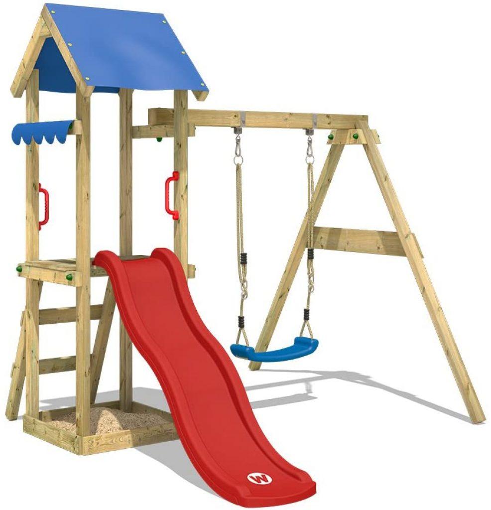 L'aire de jeux TinyWave est conçue pour les enfants de 3 à 5 ans.